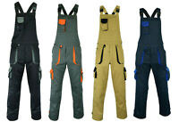 Mens Work Trousers Bib and Brace Overalls Knee Pad Pocket Dungarees MultiPocket