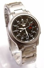 SEIKO 5 SNK809K1 Stainless Steel Band Automatic Men's Black Watch & Gift New !