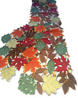 "Dresser Scarf Table Runner 54"" Autumn Set + 2 Doilies Maple Leaves Leaf Placemat"