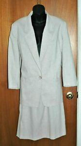 Alfred Dunner 2 pc Suit Separates 12 P Blazer & 14 P Skirt