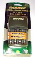 NEW Rayovac 4 Rechargeable Easy Charger AA AAA Recharger NiMH Ps131