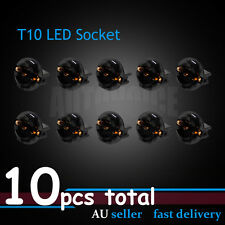 T10 LED Socket Base Connector Instrument Panel Dashboard Light Bulb Holder 10pcs