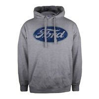Ford - Logo - Mens - Pullover Hoodie - Grey - Size S,M,L,XL,XXL