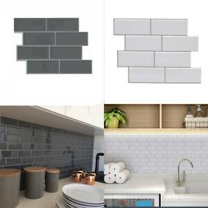 Relistic Stone Brick 3D Wallpaper Sticker Tile Peel Sticker Morden Faux Effect