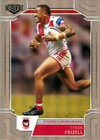 ✺New✺ 2020 ST GEORGE ILLAWARRA DRAGONS NRL Card TYSON FRIZELL Elite Silver