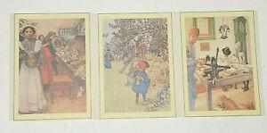 Vintage Carl Larsson Postcards X 3
