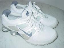 2010 Womens Nike Shox Turbo+ 11 White/Grey/Metallic Silver Running Shoes! Size 9