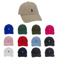 Polo Fine Embroidery Small Pony Leather Strapback Ball Cap Adjustable Golf Hat