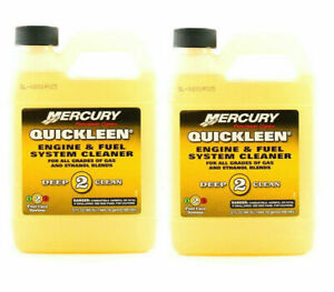 02 PACK Mercury Quickleen Engine and Fuel System Cleaner 32 oz. - 92-8M0058691