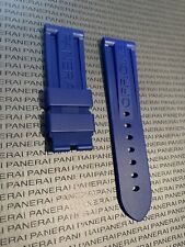 PANERAI OEM 24MM Royal  Blue Rubber Strap for Tang Buckle