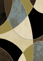 "Modern Shapes Area Rug 8x11 Contemporary Abstract Carpet  -Actual 7'8"" x 10'4"""