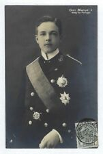 D.Manuel II KING of PORTUGAL Official photo after father REGICIDE. Old Photo PC