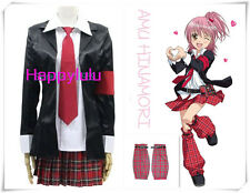 Freeship Anime Shugo Chara Hinamori Amu Cosplay Costume Uniform Dress whole set