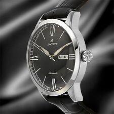 NEW Jacot DeWitt JC-W13033 Men's Black Sleek Dress Automatic Day/Date Nice Watch