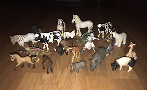 Schleich Mixed Lot Of 20 Figures Animals And More