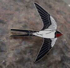 Beautiful Swooping Flying Fork Tailed Swallow Passerine Bird Brooch Pin Badge