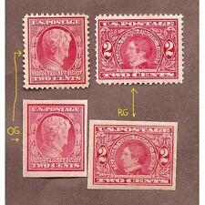 US US # 367 - 2¢ Lincoln, # 368 - 2¢ Lincoln Imperf, & # 370-1 -2¢ UNUSED OG®UM