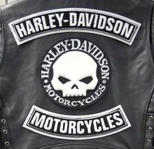 Toppe Skull Harley Davidson Willie G Skull Patches Set 3 pz. Maxi Termoadesive