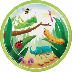 Insect Bug Party 9 Inch Paper Plates 8 Pack Boy Kids Birthday Tableware