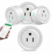 4 Pack Smart Wi-Fi Mini Outlet Plug Switch Works With Echo Alexa Remote Control