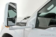 """F250 F350 Towing Pick Up Driver Power White Signal Heat Side 102"""" Body Mirror"""