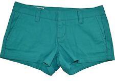 Hurley LOWRIDER 2.5 California Green Aqua Pockets Junior's Micro Mini Shorts