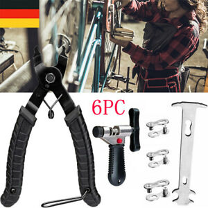 6x Fahrrad Reparatur Fahrrad Link Kettenschloss Set Zange Ketten Werkzeug Prüfer