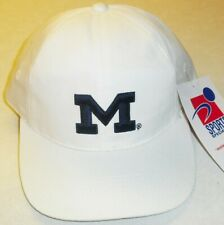 Michigan Wolverines Sports Specialties 90s white VIntage Snapback hat New Ncaa