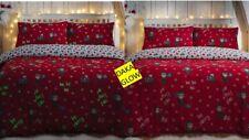 Christmas Festive Elf Character Set Glow in the Dark Single & Double Duvet Set
