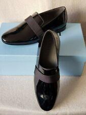 NIB Lanvin Dress Evening Loafer Slippers 10 UK 11 US Black Patent Leather Shoes