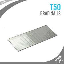 5000 PC T50 Brad Nails 50mm Nail Gun Air Nails Flooring Cornice Carpentry Carpet