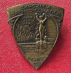 Kingdom of Romania - Medicinal Spa Congress badge 1928