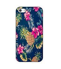 Coque iphone 4 4s Ananas Fleur rose Tropical Exotique hawaii aloha