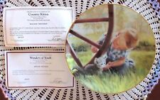 Donald Zolan Country Kitten Collectors Plate Wonders Of Youth Danbury Mint COA