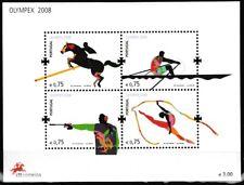 Beijing OLYMPIQUES MNH SOUVENIR feuille 2008 PORTUGAL #2991 équestre,canoë-kayak
