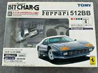 TOMY TOMICA SUPER BIT CHAR-G Silver FERRARI 512BB 40MHZ