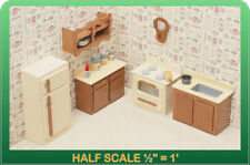 Kitchen Dollhouse Furniture Kit - 1/24 Scale by Greenleaf Dollhouses