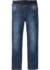 Schlupf-Stretchjeans m Jersey-Komfortbund Gr. 60 Dunkelblau Heren-Jeans Hose Neu