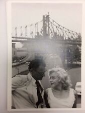 MARILYN MONROE POSTCARD 1957 with Arthur Miller looking at each other