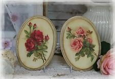 "Two ""Vintage Roses"" Shabby Chic French Country Cottage style Wall Decor Sign"