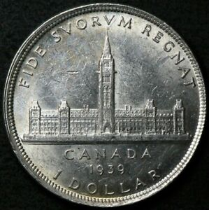 1939 Canada Silver $1 Dollar Royal Visit #12868