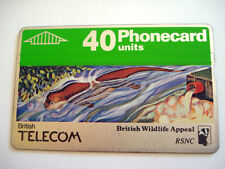 PHONECARD TELECARTE BRITISH TELECOM ANIMAUX MARMOTTE