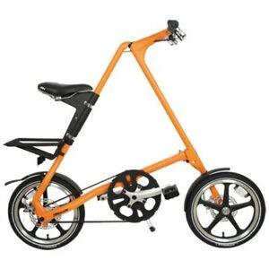 STRIDA Lt Sunkist 16 Pulgadas Bicicleta Plegable Bicicleta de Ciudad