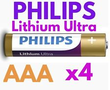 4 x PHILIPS AAA LITHIUM ULTRA BATTERIES NEW 1.5v NEW LONG EXPIRY DIGITAL CAMERA