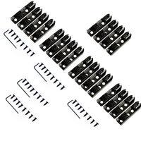 4 Single String Bass Bridge Black For Guitar Bridges Parts Replacement 5 Set