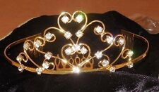NEW Lot of 3 Gold Metal Rhinestone Ballerina Tiaras Celtic Diva Irish Dance comb