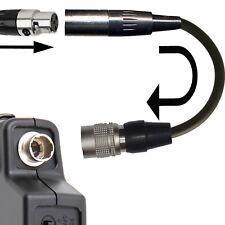 3 PIN MINI XLR TA3F MICROPHONE ADAPTER TO 4 PIN HIROSE AUDIO TECHNICA HR10 ATW