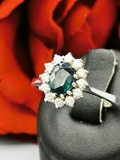 Schmuck 585 Gelbgold Ring Saphir Brillant  0,11 Carat Top Lady Di Verlobungsring