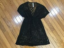 WATER WATER EVERYWHERE Cover Beach Cover-up Net Black Size S