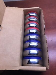 New! American Shuffleboard Red & Blue Pucks 8 piece set for 1 price